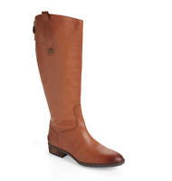Sam Edelman Penny2 Brown Leather Wide Calf Boot  Size 8 M N2333*