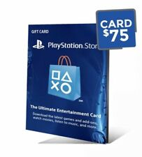 Psn Playstation Network Gift Card $ 75 MUST READ DESCRIPTION BEFORE PURCHASING