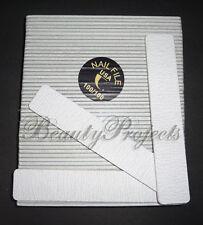 50pcs Professional 100/100 Grit Zebra Jumbo Nail Files Square Shape 7x1 Acrylic
