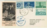 United States 1961 NewYork-Munich 1st Flight Airmail LH403 Stamps Cover Rf 29378