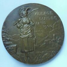 SUISSE - Médaille VILLAGE SUISSE Paris 1900 HELVETIA Georges HANTZ Genève Etat++
