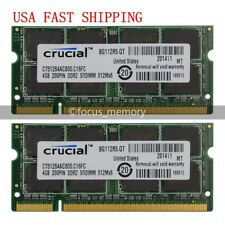New  8GB 2X 4GB DDR2 PC2-6400 800MHZ 200pin Laptop Memory Sodimm Ram Non-ECC