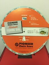 VTG 1964  PIONEER CHAIN SAW FRESHWATER FISHING & LURES  GUIDE WHEEL DIAL CHART