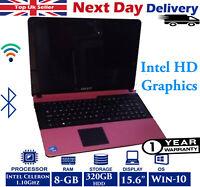"Advent Monza T200 15.6"" Laptop Intel Celeron 1.1Ghz 8GB RAM 320GB HDD Windows 10"