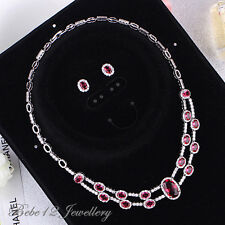 Simulated Ruby/Wedding/Party Classic Necklace&Earring Set/RS043