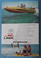 Evinrude Lark Outboard  Vintage Magazine Print Ad 1960