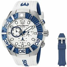 Technomarine TM-515020 Black/Reef Men's White/Blue Silicone 45mm