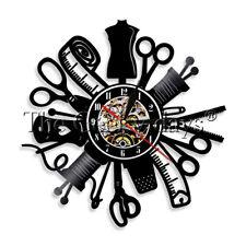 Sewing Machine Vinyl Record Clock Quilting Sartorius Stitching Wall Clock Seamer