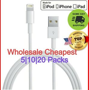 5PC iPhone Ipad charging Cable replacement cable USB Charging Cord Nylon braided