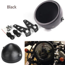 "5.75"" Black Aluminum Alloy Motorcycle Headlight Bucket Housing Mount for Harley"