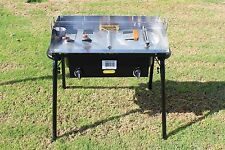 CONCORD 32 x17 Stainless Steel Domed Top Griddle w/ Double Burner Outdoor Stove