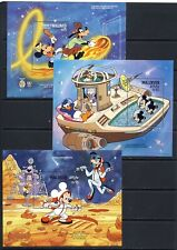 Walt Disney 9 souvenir stamp sheets on 3 pages mnh vf  68.50