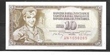 YUGOSLAVIA #82C 1968 UNCIRCULATED MINT OLD 10 DINARA BANKNOTE CURRENCY NOTE