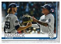 2019 Topps Update Baseball Chris Paddack Rookie SP Photo Variation #263 Padres