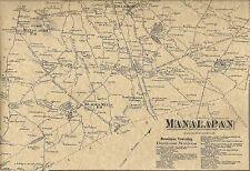 Englishtown Yorketown Manalapan NJ 1873 Maps with Homeowners Names Shown