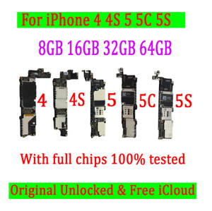 Apple iPhone Motherboard Unlocked Fully working 4/4S/5/5C/5S/5SE iC Free