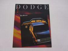1989 Dodge Omni America Hatchback Original Sales Brochure Dealer Folder