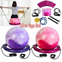 Anti-burst Fitness Gym Yoga Balance Ball Strength Stability Exercise w/Air Pump