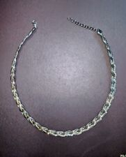 Stunning! ● Milor Italian .925 Sterling Silver 6-Chain Braided Choker Necklace