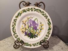 "ROYAL WORCESTER HORTICULTURAL SOCIETY 9"" PLATE ""WINTER FLOWERS"" #1 SIGNED"