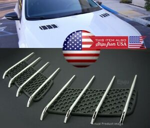 Factory OEM Look Hood Engine Vent Grille Grill Louvered Scoop Cover Kit For Ford