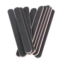 10 Double Sided 180/100 Grit STRAIGHT Nail Files Emery Board File Gel MANICURE