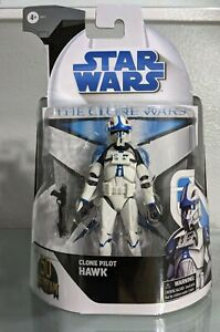 """Hasbro Star Wars Black Series Clone Wars 50th 6"""" Clone Pilot Hawk In Hand"""