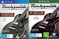 Rocksmith 2014 Game Cable Bundle Play Using Your Real Guitar Sony PS4 XBOX One