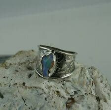 Opal Ring 925 Sterling Silber  Größe 60  Opal aus Äthiopien  roher Opal