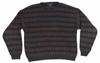 2308 VTG 90s SAN MATEO Island Sportswear Mens Large Sweater Geometric Cosby
