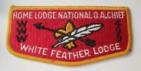 Boy Scout OA 499 White Feather Lodge National Chief Flap S2