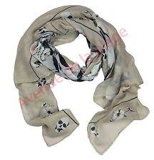 Foulard cheche écharpe Tête de mort plumes accessoire de mode XXL 170x90 cm NEUF