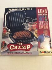 George Foreman Lean Mean Fat Reducing Grilling Machine The Champ In Box