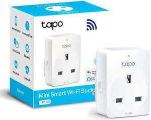 TP-Link Tapo Smart Plug WiFi Outlet Works Alexa Echo Google Home UK Pack of 1