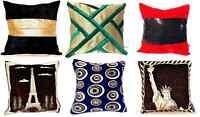 Decorative Handmade Velvet Throw Cushion Cover Pillow Case 16 x 16,12 x 12