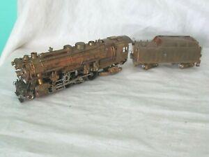 Vintage HO Scale Brass Japan Steam Locomotive 2-8-2 & Tender Car LMB KMT