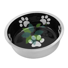 Pet Dog Cat Food Puppy Kitten Food Water Bowl Dish Feeder X Small Black Durable