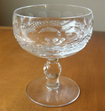 Waterford Colleen ball stem saucer champagne glass~Made in Ireland~Pristine-NR