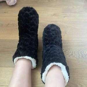 Boots Ladies Faux Fur Slippers Memory Foam Dunlop Ankle Warm Shoes Thermal Women