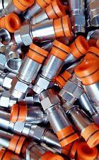 Lot 10 Thomas Betts RG59 Compression Coax Belden Connectors Cable Orange SNS1P59