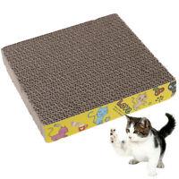 Square Pet Cat Corrugated Board Cat Toy Climbing Frame Scraper Mat HU