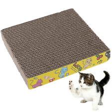 Square Pet Cat Corrugated Board Cat Toy Climbing Frame Scraper Mat`UK