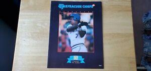 1988 Syracuse Chiefs Program Matts Toronto Blue Jays affiliate David Wells