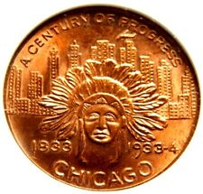 1933 IL HK470 NGC MS65 RD TOP 8 INDIAN HEAD DOLLAR CENTURY OF PROGRESS CHICAGO !