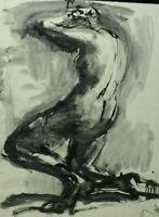Rudolf Rothe Weiblicher Rückenakt Akt Tusche Zeichnung Monogramm Nachlass