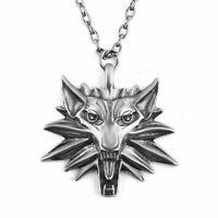 The Witcher Wild Hunt III Wolf Kopf Medaillon Kette Anhänger Halskette Schmuck