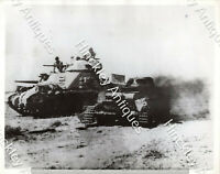 WW2 Official Photograph British Tank German Tank Battle of Knightsbridge Libya 6