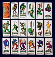Vintage 1989 BONKERS CANDY Prizes TMNT *COMPLETE SET* ALL 18 Stickers