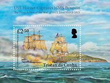 Tristan da Cunha 2015 USS Hornet/Penguin 1v MS MNH