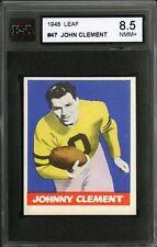 1948 LEAF FOOTBALL~#47~JOHN CLEMENT~PITTSBURGH STEELERS~KSA 8.5 NM-MT+